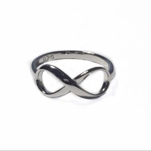 925 Sterling Silver Infinity Ring Size 7